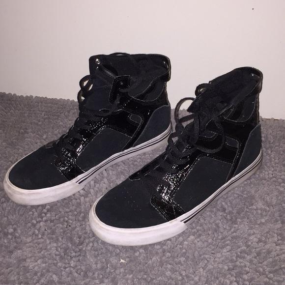 black high tops white sole